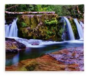 Fall Creek Oregon 3 Fleece Blanket