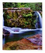 Fall Creek Oregon 3 Fleece Blanket
