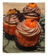 Fall Cupcakes Fleece Blanket
