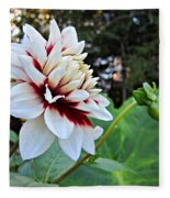 Fall Dahlia Fleece Blanket