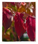 Fall Dogwood Leaves Fleece Blanket