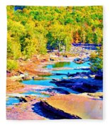 Fall Drought @ Ashokan Fleece Blanket