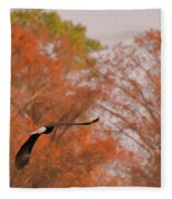 Fall Eagle Fleece Blanket