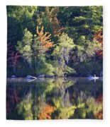 Fall Fishing Fleece Blanket