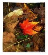 Fall Flames Out Fleece Blanket
