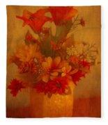 Fall Flower Bouquet Fleece Blanket