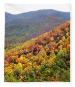Fall Folage 2 Along The Blueridge Fleece Blanket