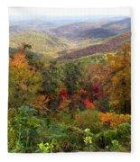 Fall Folage 3 Along The Blueridge Fleece Blanket