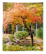 Fall Folage And Pond 2 Fleece Blanket