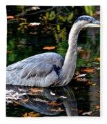 Fall Foliage And Fowl Fleece Blanket