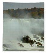 Fall Foliage At American Falls Panorama Fleece Blanket