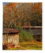 Fall Foliage At Meems Bottom Bridge Fleece Blanket
