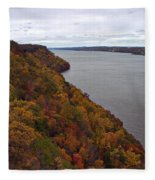 Fall Foliage On The New Jersey Palisades  Fleece Blanket