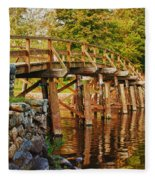 Fall Foliage Over The North Bridge Fleece Blanket
