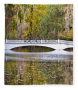 Fall Footbridge Fleece Blanket