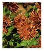 Fall Garden Flowers Fleece Blanket
