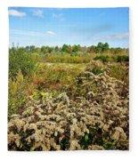 Fall Goldenrod Field Fleece Blanket