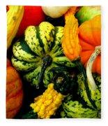 Fall Gourds Fleece Blanket