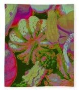 Fall Gourds Pinked Fleece Blanket