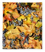 Fall Grapes Fleece Blanket