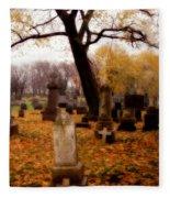 Fall Graveyard  Fleece Blanket