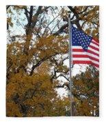 Fall In America Fleece Blanket