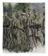 Fall In Norfolk Volunteers Fleece Blanket