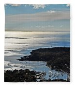 Fall In Rockport Fleece Blanket