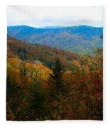 Fall In The Blue Ridge Mountains Fleece Blanket