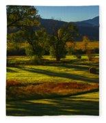 Fall In The Fields Fleece Blanket