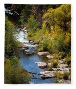 Fall In The Mountains Fleece Blanket