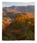 Fall In The Smoky Mountains Fleece Blanket