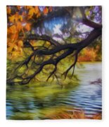 Fall Landscape 4 Fleece Blanket