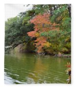 Fall Landscape Around The Lake 2 Fleece Blanket