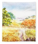 Fall Landscape Briones Park California Fleece Blanket