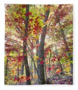 Fall Laser Beams Fleece Blanket