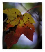 Red And Yellow Maple Leaf Fleece Blanket