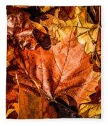 Fall Leaves Fleece Blanket