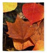Fall Leaves I I Fleece Blanket
