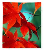 Fall Leaves In All Their Glory Fleece Blanket