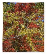 Fall Leaves In So Cal Fleece Blanket