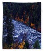 Lower Mesa Falls Fleece Blanket