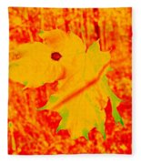Fall Maple Fleece Blanket