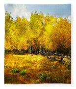 Fall Near Lake City Fleece Blanket