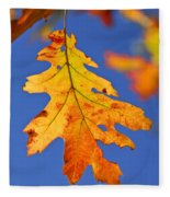 Fall Oak Leaf Fleece Blanket