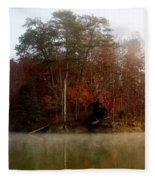 Fall On Melton Hill Lake Fleece Blanket