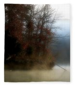 Fall On Melton Hill Lake II Fleece Blanket