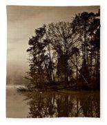 Fall On Melton Hill Lake V Fleece Blanket