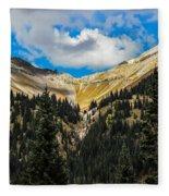 Fall On Red Mountain Pass Fleece Blanket