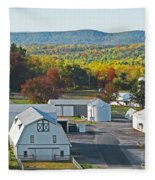 Fall On The Farm Fleece Blanket